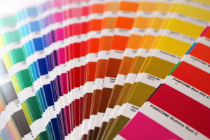 cartas de color, muestra, pantone