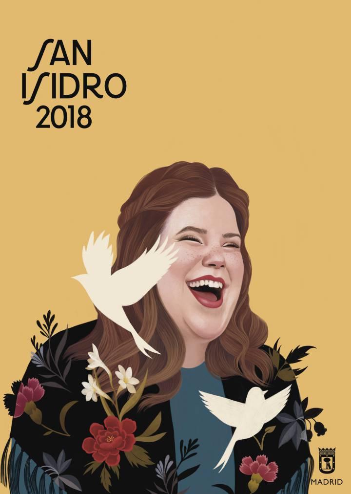 Cartel Campaña de San Isidro 2018, obra de Mercedes deBellard.